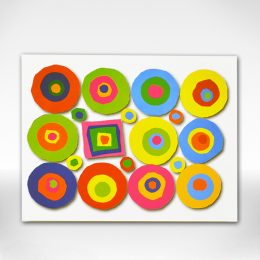 """Embracing the Difference"" circles and square notecard"