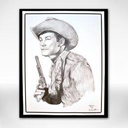 Roy Rogers B&W Print by Dale Adkins