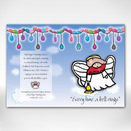 Angel holiday card outside