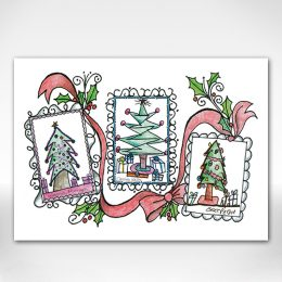 Christmas trees card cover