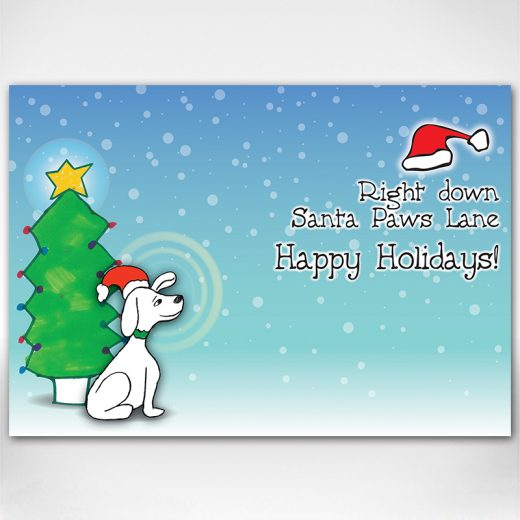 Santa Dog card inside