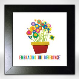 "Framed ""Embracing the Difference™ Flower Pot"""